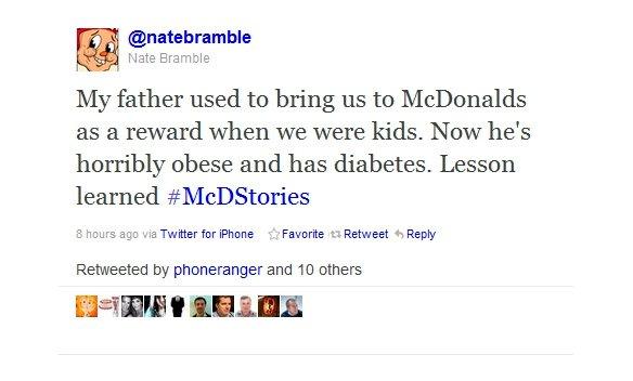 #MCDonaldStories - funny hashtag fial