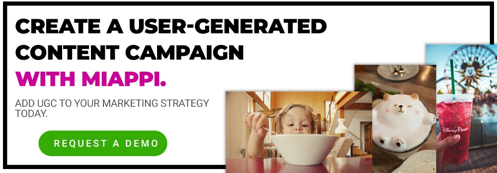 Create user generated content campaign