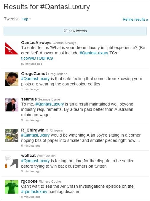 #QantasLuxury another hashtag fail