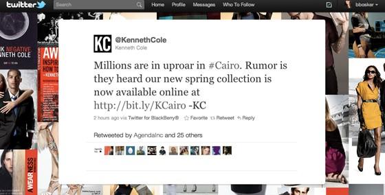 #Cairo - not so funny hashtag