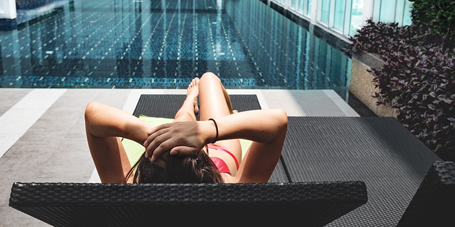 Hotel pool - marketing in travel example