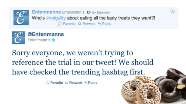 #notguilty - bad use of a trending hashtag